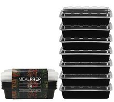 Meal Prep Containers – Stackable Plastic Microwavable Dishwasher Safe Reusable – 28 Oz – (Set of… Freezer Cooking, Freezer Meals, Best Meal Prep Containers, Make Ahead Meals, Quick Meals, Portion Control, Health Eating, Healthy Cooking, Food For Thought