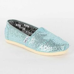 Toms – Youth Classic Glitter Shoes in Turquoise, « Shoe Adds for your Closet