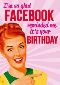 I'm glad Facebook reminded me Greeting Card from Dean Morris Cards #facebook #greetingcards #deanmorriscards