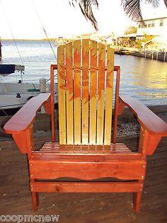 Hand painted adirondack chair beach style