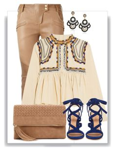 """Couro"" by ebramos ❤ liked on Polyvore featuring Balmain, Isabel Marant, Urban Expressions and Gianvito Rossi"
