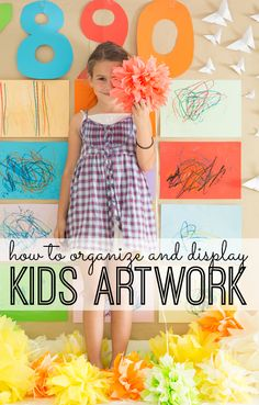 Are you drowning in kids art? Be prepared to have your mind blown. The absolutely BEST way to organize and display kids artwork. Seriously...