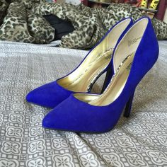 Blue high heels (only worn once) Beautiful blue heels only worn once Shoes Heels