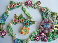 Thumbelina's Garden Necklace by thistledew4u on Etsy, $1500.00