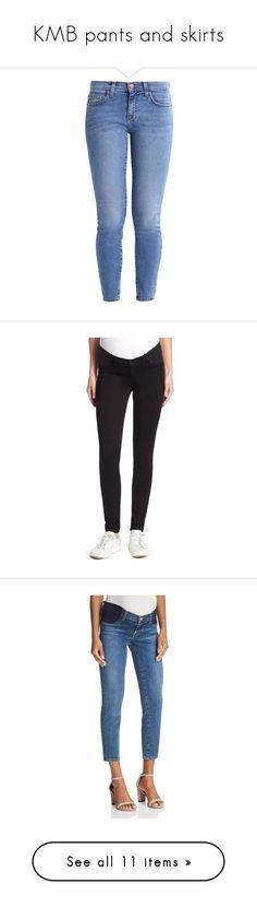 """KMB pants and skirts"" by mil0000000000000 ❤ liked on Polyvore featuring jeans, pants, bottoms, denim jeans, skinny fit jeans, blue skinny jeans, denim skinny jeans, current elliott skinny jeans, maternity and lovesick #bestskirtforskinnylegs"