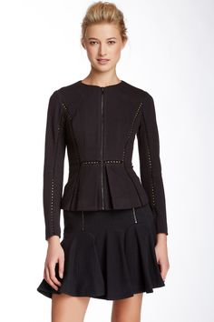 Long Sleeve Textured Jacket by Rebecca Taylor on @nordstrom_rack