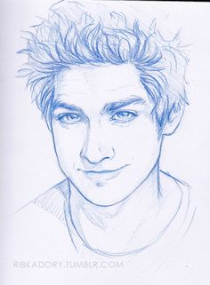 today's traditional sketch - Andrew Garfield not the exact copy of him, but i think he's pretty recognizable (: