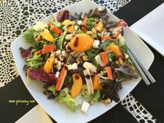How to beat with heat in Spain (click to read all the tips)  Fresh salad in Laroles, Granada province at Rest. Montesinos