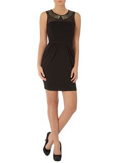 Studded collar lampshade dress from Dorothy Perkins