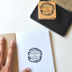 Custom bookplate stamp Game of Thrones. Nerdy gifts. by Biterswit