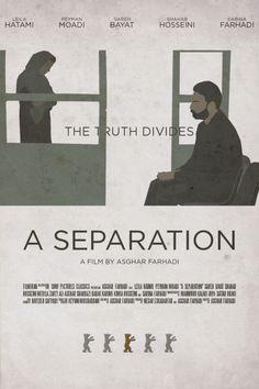 A Separation  es una película dramática iraní del año 2011 que escribió y dirigió Asghar Farhadi; los protagonistas son Leila Hatami, Peyman Moaadi, Shahab Hosseini, Sareh Bayat y Sarina Farhadi.