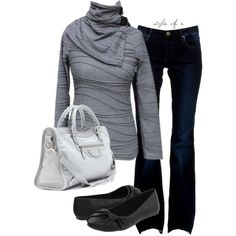 Shades of Gray, created by styleofe on Polyvore