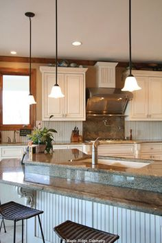 White Cottage Style Kitchen   Georgia Lake Home   Traditional   Spaces    Atlanta   Maple · Cottage Style KitchensCustom CabinetsWhite ...