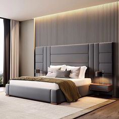 Contemporary bedroom interior design that very cozy 04 Modern Luxury Bedroom, Luxury Bedroom Design, Bedroom Furniture Design, Master Bedroom Design, Luxurious Bedrooms, Interior Design, Master Bedrooms, Contemporary Bedroom Designs, Bedroom Decor
