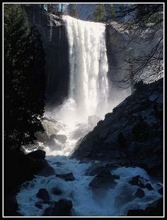 Backpacking in Yosemite. Vernal Falls
