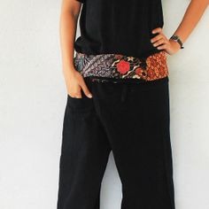 Thai batik print and patchwork inside foldover by meatballtheory, $15.00