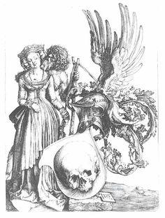 Dürer- Coat of arms with skull,  1507