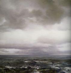 Richter,  Seestück (bewölkt)  Seascape (Cloudy)  1969  200 cm x 200 cm  Oil on canvas  Catalogue Raisonné: 235