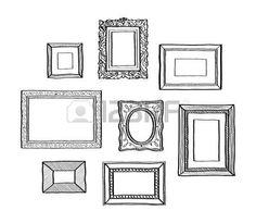 40325853-vector-ensemble-de-cadres-photo-vintage-style-doodle-dessin--la-main-anciennes-cadres-photo-ornement.jpg (350×304)
