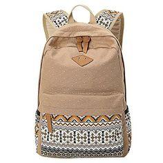 iikids Schulrucksack Schultasche Mädchen Jungendliche Aufdruck Segeltuch Kinderrucksack Rucksack Reisetasche Schultaschen 6 Farben