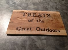 Sweet treat table. Bamboo Cutting Board, The Great Outdoors, Our Wedding, Sweet Treats, Table, Sweets, Cheer Snacks, Tables, Outdoor Living