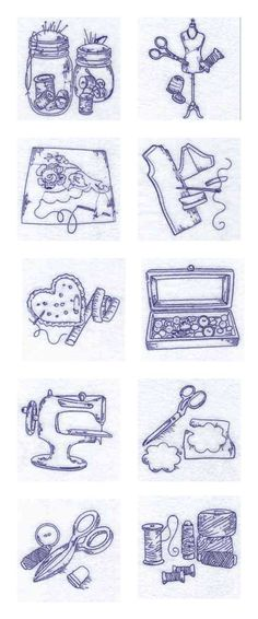 Blue Work Sewing Accessories Embroidery Machine Design Details
