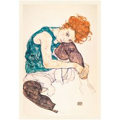Schiele. Love him. Great piece. I had this up in my apartment for a while