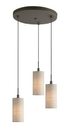 Woodbridge Lighting 13424MEB-S10401 3-Light 3-Port Mini Pendant Cluster, 10-Inch by 84-Inch Maximum, Metallic Bronze by Woodbridge Lighting, http://www.amazon.com/dp/B0056IDRVK/ref=cm_sw_r_pi_dp_dY7Fsb0PBZ06J