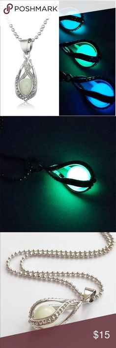 Glow in the dark necklace(NWT)Coming Soon! Very pretty. Put under a lamp or outside in the light for an hour for necklace to glow. Jewelry Necklaces