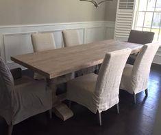 Custom Pine Trestle Table