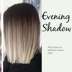 New hair color ash ombre balayage ideas Ombré Hair, Prom Hair, Wavy Hair, Hair Color And Cut, Color For Brown Hair, Winter Hair Color Short, Black Colored Hair, Colour Melt Hair, Short Hair Colour