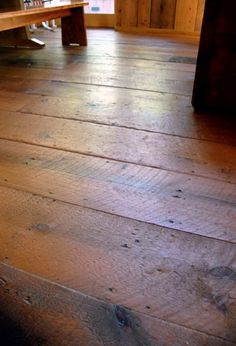 Wide plank floors.  I know I pin a lot of floors.....do they all look like this?  I love this look.  My friends Karen and Richard have floors like this.  Theirs are all reclaimed from barns and factories.