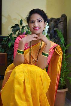 Marathi Saree, Marathi Bride, Indian Beauty Saree, Indian Sarees, Indian Photoshoot, Glamorous Makeup, Stylish Girls Photos, Tamil Actress Photos, Beautiful Girl Photo