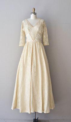 Varsovienne dress vintage 1940s wedding gown cream by DearGolden