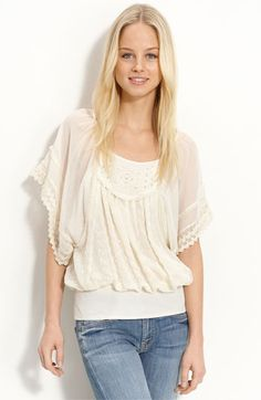{ Georgette Eyelet Top by Free People, from Nordstrom [$128] }