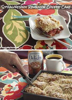 Strawberry Rhubarb Coffee Cake - amazing! Substitute the rhubarb for blueberries if you don't like it.