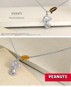 Happy Snoopy Silver Necklace