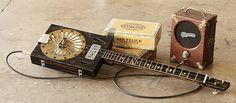Old Timer Cigar Box Guitar Vintage Pignose amp