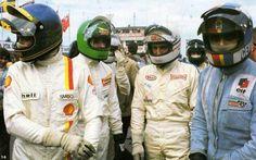 Ronnie Peterson, Henri Pescarolo, Derek Bell & François Cevert