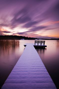 "bluepueblo: "" "" Winter Jetty, Stockholm, Sweden photo by CalleHoglund "" """
