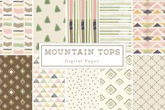 40% off Mountain Tops Backgrounds by Lilly Bimble on Creative Market