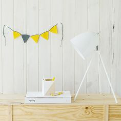 Beautiful white table lamp - perfect for kid's desks