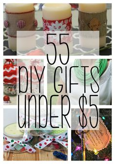 Homemade gifts are great for giving something from the heart. These DIY Gifts under $5 will help you give great gifts without breaking the bank!
