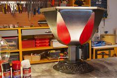 Projet Recréat :: Table tulipe, une touche de gris métallique en plus