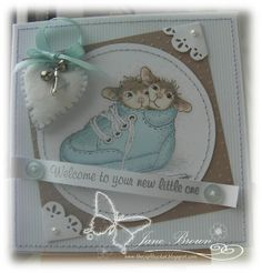 House Mouse Baby Boy (Joanna Sheen DT Card) ...
