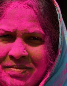 holi - festival of color Holi Festival India, Holi Festival Of Colours, Indian Colours, Happy Holi, Indian Festivals, Black And White, Celebrities, People, Pink