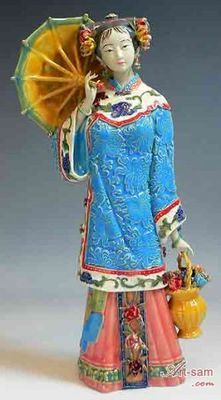 Master Collection Ceramic / Porcelain Figurine Statue Oriental Fair Lady Shiwan