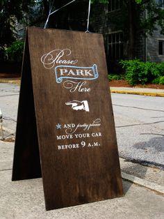 parking sign / http://www.chocolatebutterbean.com/wp-content/uploads/2009/08/kraft-parking-sign.jpg