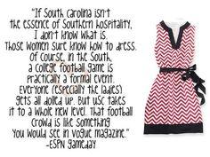 garnet and black chevron Gamecocks USC gameday dress