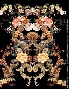 Textile Prints, Textiles, Baroque Pattern, Art Pictures, Florals, Digital, Painting, Art Images, Floral